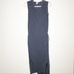 GAP Grey Linen Sleeveless Maxi Dress Small